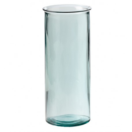Grand vase jarron oceania hauteur 34 cm en verre recycl for Grand aquarium rond