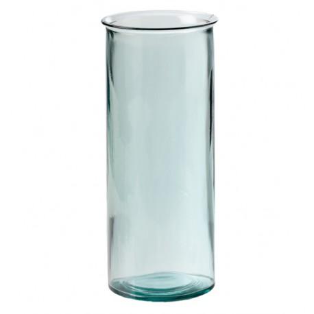 Grand vase Jarron Oceania, hauteur 34 cm en verre recyclé