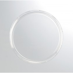 24 Coiffes diamètre 100 mm en plastique transparent PET pour bocal WECK
