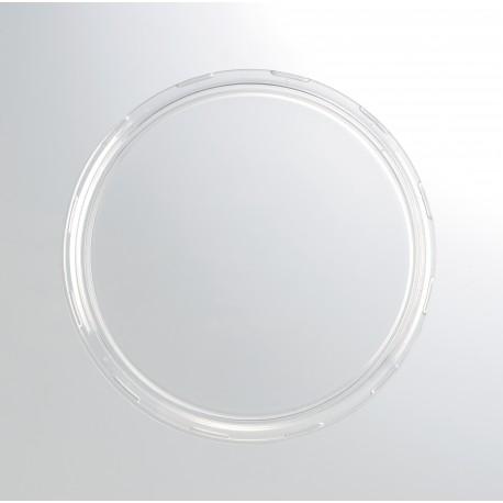 24 coperchi di plastica trasparenti per i vasetti Weck diametro 100 mm