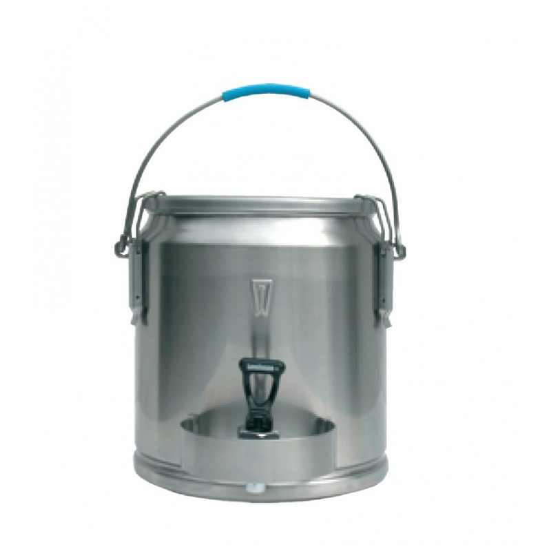 Liquide Container Stainless Steel With Spout 10 Liters