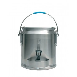 Liquide container stainless steel with spout 25 liters