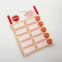1 package of 100 labels for Weck® jars