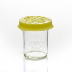 Coiffe silicone Blossom eCAP diamètre 60 Jaune pour bocaux WECK