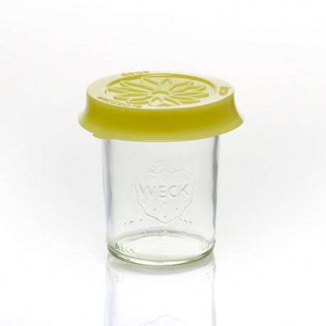 Cofia en silicona Blossom eCAP Storage, diámetro 60 mm., color Amarillo para bocales WECK