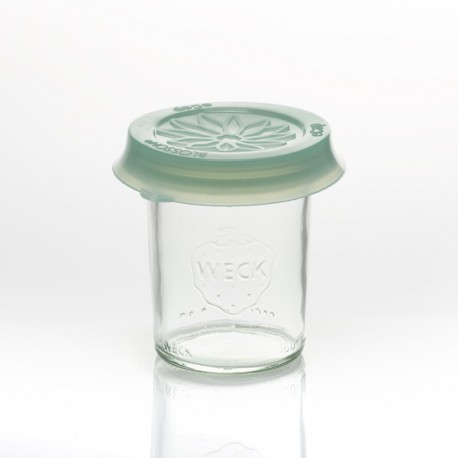 Cap out of silicone Blossom eCAP Storage, diameter 60 mm, Green for jars WECK