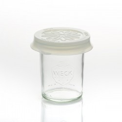 Cap out of silicone Blossom eCAP Storage, diameter 60 mm, white for jars WECK