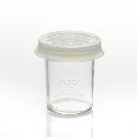 Coiffe silicone Blossom eCAP diamètre 60 Blanche pour bocaux WECK