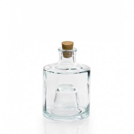 Bocal empilable en verre 100% recyclé avec bouchon en liège