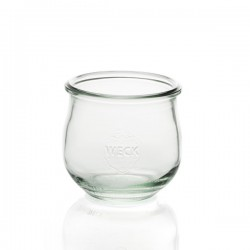 6 glass jars Weck® Corolle® without lid nor rubber ring (diam. 80 mm)