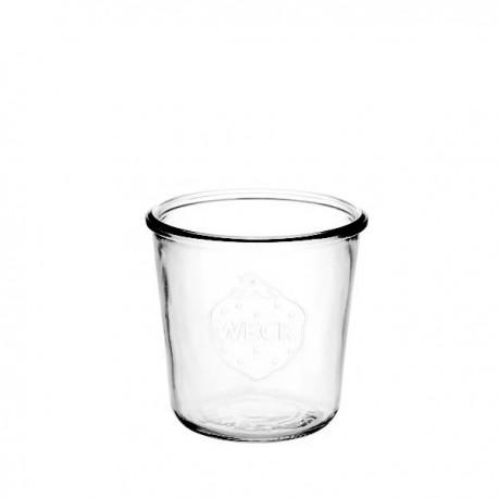 6 bocaux en verre WECK Droits 290 ml Hauts sans couvercle, ni joint (diam. 80 mm)