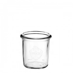 6 Glas flessen Weck® 140 ml Droit, zonder deksel