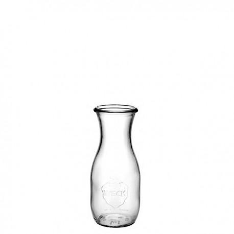4 bouteilles 540 ml en verre WECK modèle Flacon, sans couvercle ni joint