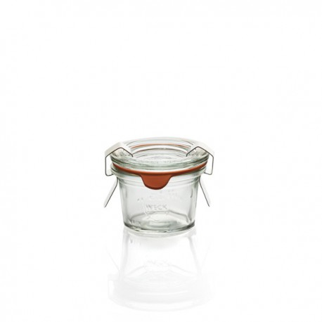 12 Bocaux WECK en verre Droits 35 ml avec couvercles en joints (clips non inclus)