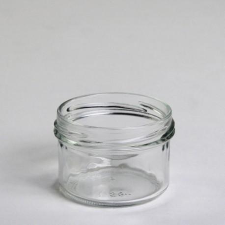 12 bocaux verrines 120 ml, TO 70 mm capsules comprises