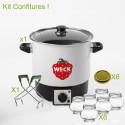 KIT DE ATASCOS WECK® para realizar con seguridad y facilidad para su estancia y sus mermeladas en conserva