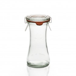 6 jars WECK® Bobine® 110 ml, with glass cover and rubber ring diameter 40 mm (clips not included)