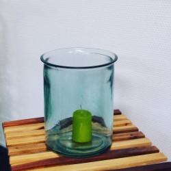 Vase OCEANIA, en verre 100% recyclé, 18 cm