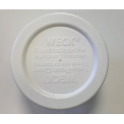 5 tapas de conservación en plástico Weck®, diámetro 40 mm