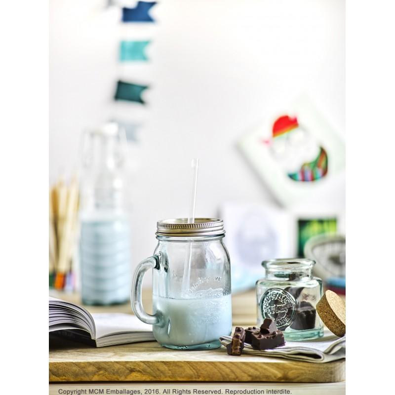 Bouteille en verre style eau min rale 700 ml avec capsule for Prix tuile mecanique en verre