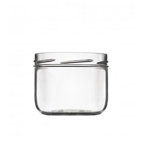 6 Bocaux modèle Terrine 450 ml capsules comprises diamètre 100 mm