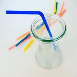 24 Coiffes diam. 60 mm Perforées en PET recyclable pour bocaux WECK®  (Pailles fournies, couleur aléatoire)