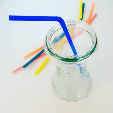 24 Cuffie diametro 60 mm in plastica trasparente per vaso WECK