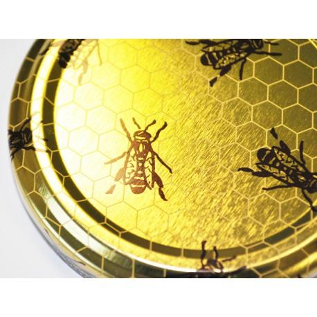 100 capsule diametro 63mm, colore oro