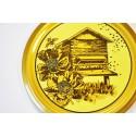 100 Capsules TO 63 motif Ruche rétro en bois avec abeilles