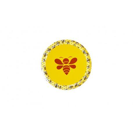 100 Capsules TO 63 jaune motif Abeille stylisée /essaim