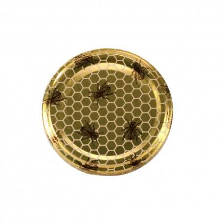 Capsule to 82 mm abeilles sur fond alveoles dorees