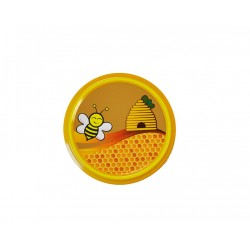 Capsule to 82 mm decor abeille rieuse et ruche