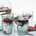 6 Grands verres Libellules en verre 100% recyclé