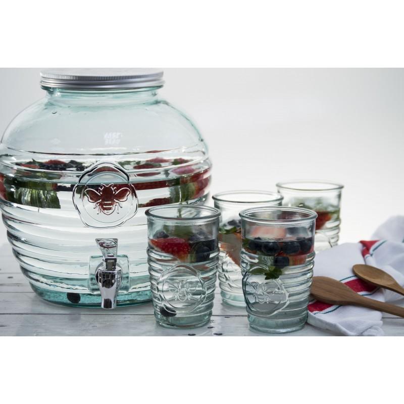 Bonbonne abeille 8 litres avec robinet en verre 100 recycl - Bonbonne en verre avec robinet ikea ...