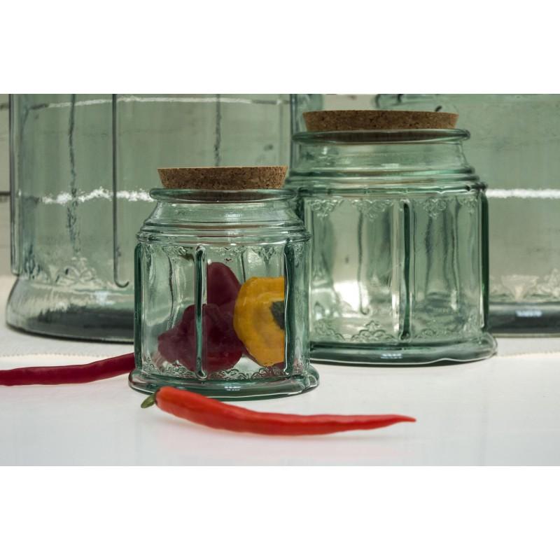 bocal bohemian 1 5 litre avec bouchon li ge hauteur 15 cm diam 15 5 cm. Black Bedroom Furniture Sets. Home Design Ideas