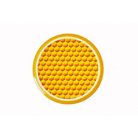 100 Capsules TO 82 mm motif alvéoles jaunes pour bocaux de miel / apiculteurs