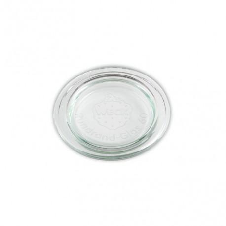 6 Couvercles en verre Weck diamètre 60 mm