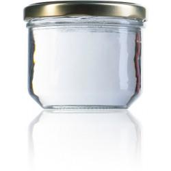 12 vasetti di vetro modello TERRINE 262 ml con capsule comprese TO 82 mm