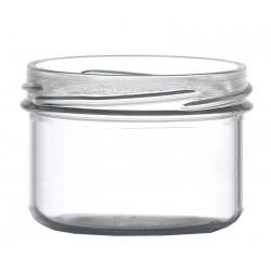 12 bocaux verrines 120 ml TO 70 mm capsules comprises