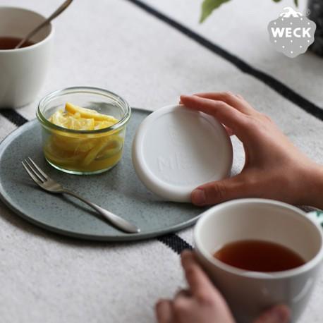 With Weck® Capsule en Silicone blanche pour bocaux WECK® diamètre 60 mm
