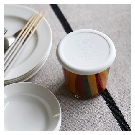 With Weck® Capsule en Silicone Blanche diamètre 100 mm pour bocaux WECK®