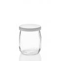 24 yoghurt  jars 143 ml (125 gr.) with plastic cap included