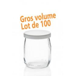100 vasetti di yogurt in vetro 143 ml (125 grammi), capsula compresa