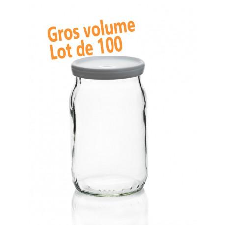 24 Pots de Yaourt 180 ml (150 grammes), capsule comprise