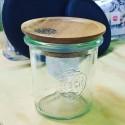 Coperchio di legno di Acacia per vaso WECK, con guarnizione di silicone diametro 60 mm