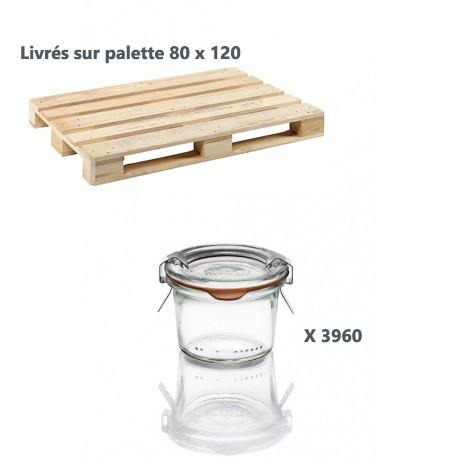 12 vasi di vetro Weck Droits 80 ml