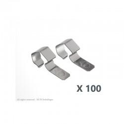 100 Clips/crochets inox pour fermeture des bocaux WECK®