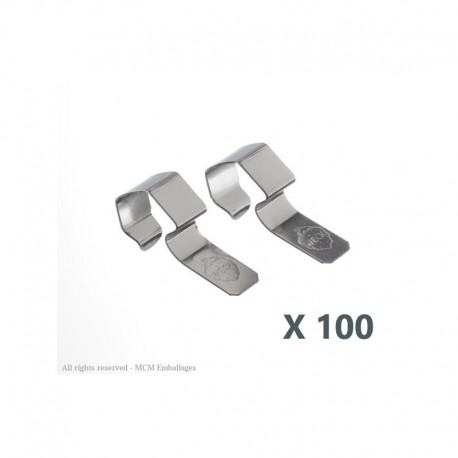 24 Clips / graffe weck di inox per la chiusura dei vasi Weck