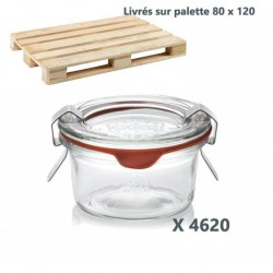 4620 WECK® jars DROIT 50 ml mold shape with rubber rings and glass lids (clips not included)