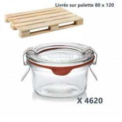 WECK® Sturzglas 50 ml (Rundrand 100) 4620 Gläser mit Deckeln und Einkochringen (ohne Klammern)